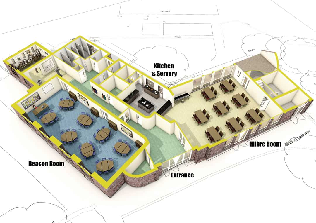 St Bridget's Centre West Kirby - plan